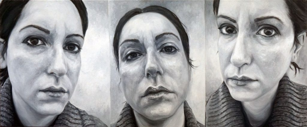 ZEITGEIST 01, Bombardelli, autoportrait, woman, painting