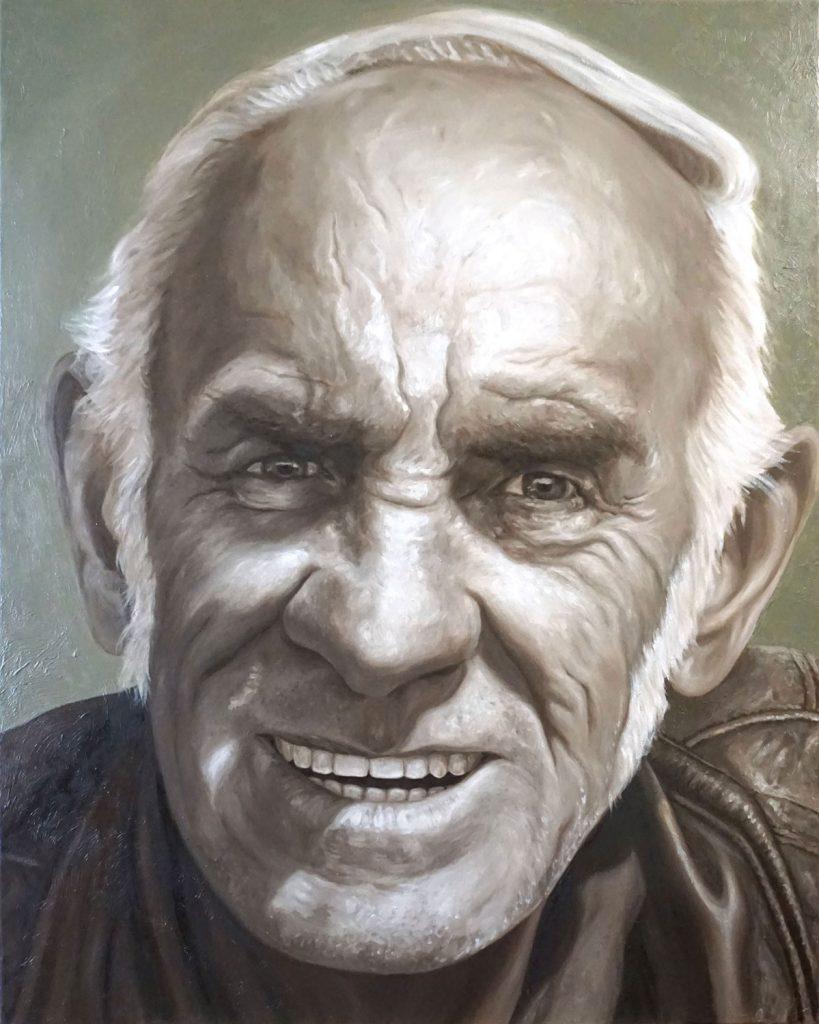 PER NON SCOMPARIRE, Bombardelli, man, portrait, painting