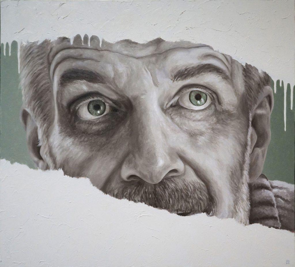 ATTRAVERSANDO, Bombardelli, man, portrait, painting