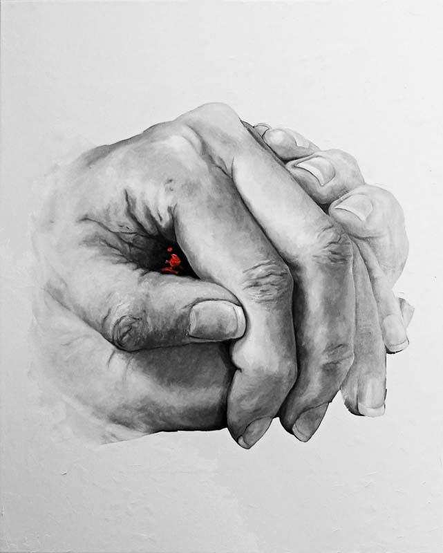 SEGRETO, Bombardelli, hands, painting