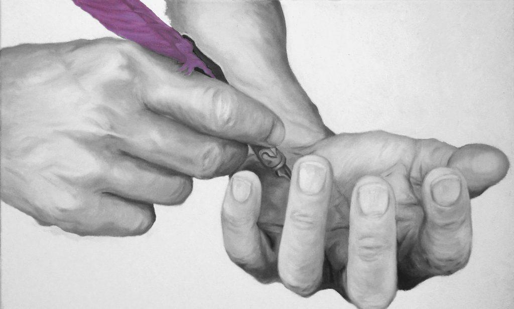 AUTOCOSCIENZA 01, Bombardelli, hands, painting