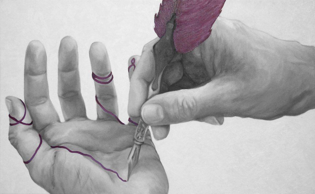 AUTOCOSCIENZA 02, Bombardelli, hands, painting