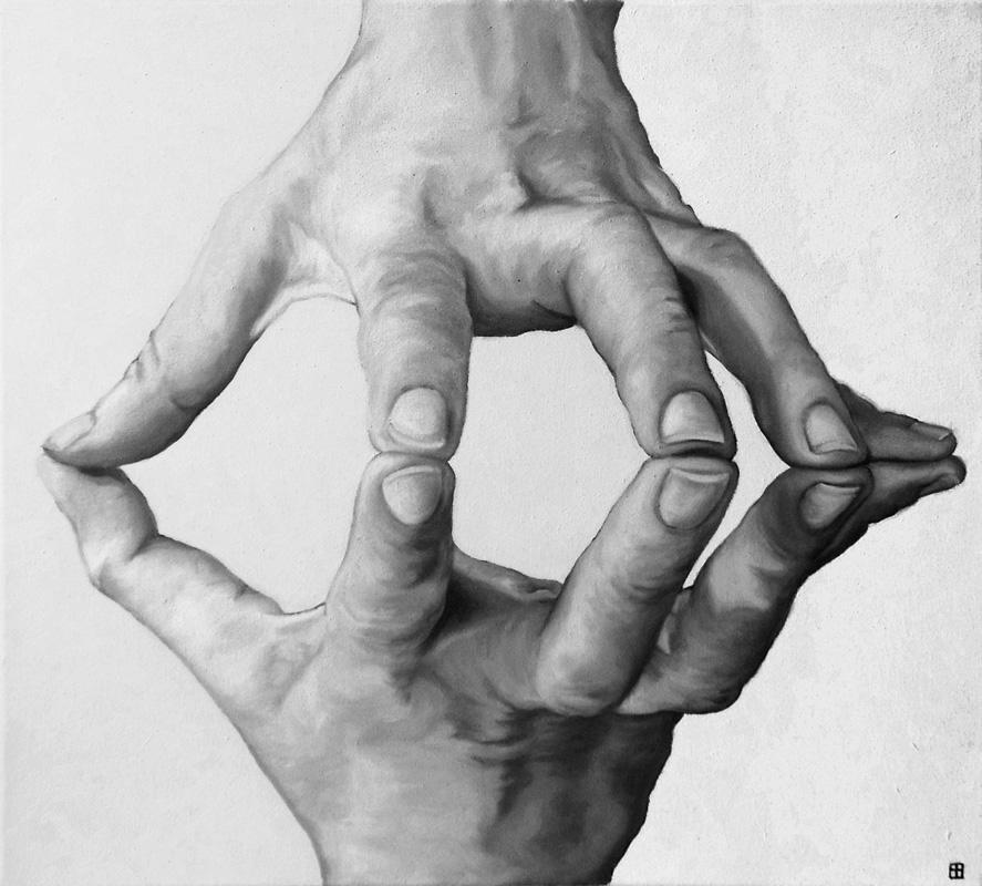 CONTRAPPOSIZIONE, Bombardelli, hands, painting
