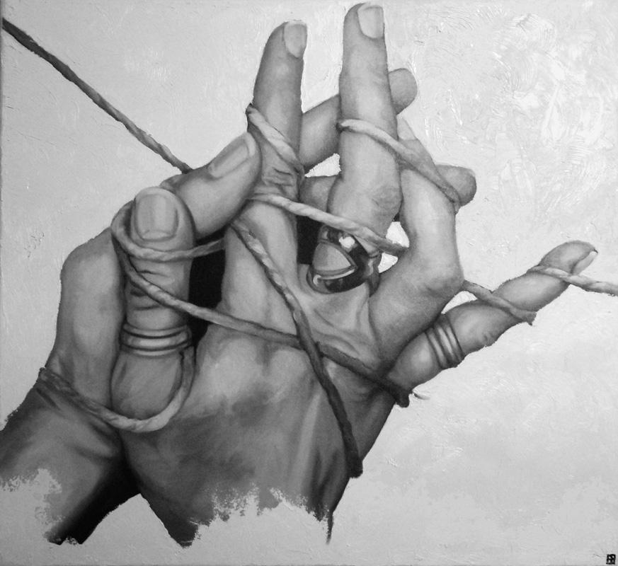 LEGAMI, Bombardelli, hands, painting