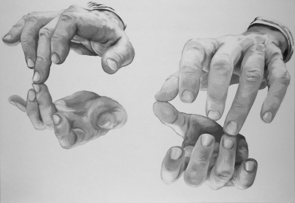 RICERCARE A 4 VOCI, Bombardelli, Petukhov, hands, piano, Bach, painting