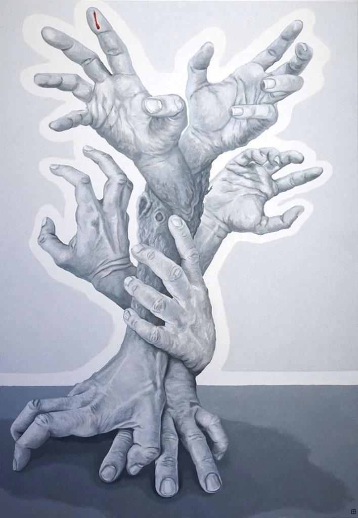ALBERO GENEALOGICO, Bombardelli, hands, painting, tree