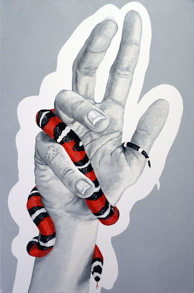 PANTOCRATOR? 02, Bombardelli, hands, snake, painting